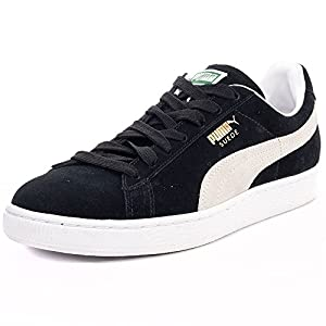 Puma Suede Classic+ Causal Basketball Shoes (US Men 11/ Eur 44.5/ 29 CM, Black- White)