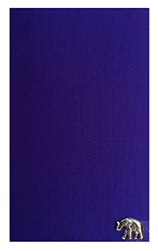 Indigo Thai Silk Blend Waitstaff Organizer, Guest Check Presenter for Server, Check Holder for Restaurant, Guest Check Book Pocket, Restaurant Server Book (With Plastic Covers) by Kathy