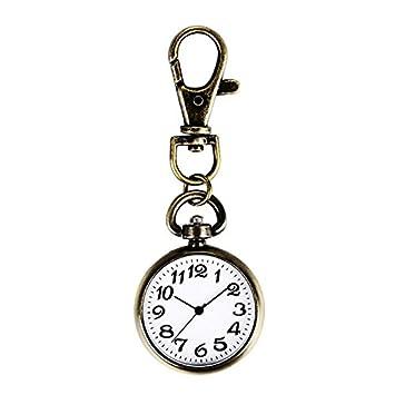 Huertuer Reloj de Bolsillo con Llavero, Esfera Grande, Reloj ...