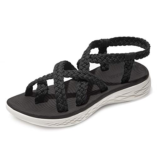 chitobae Comfortable Lightweight Soft Strappy Flat Sandals for Women