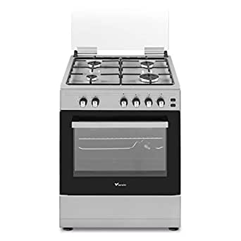 Veneto 60 X 60 cm 4 Gas Burners, Free standing Gas Cooker, Stainless Steel - C3X66G4VE.VN