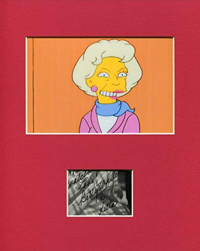 Betty White Golden Girls The Simpsons Rare Signed Autograph Photo Display from HollywoodMemorabilia