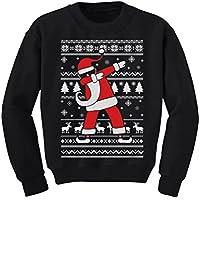 TeeStars - Dabbing Santa Funny Ugly Christmas Party Youth Kids Sweatshirt