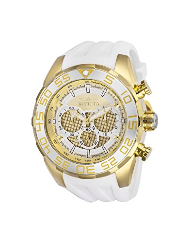 Men's 'Speedway' Quartz Stainless Steel and Silicone Casual Watch, Color:White (Model: ) - Invicta 26303