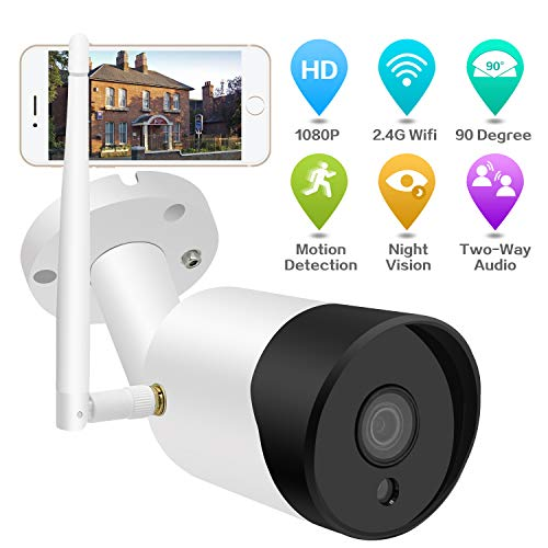 Outdoor Security Camera Wireless, Akyta 1080P WiFi Night Vision Security Camera with Two-Way Audio, Motion Detection, 2.4G WiFi Wireless Outside Surveillance Camera for Home Indoor Outdoor Security
