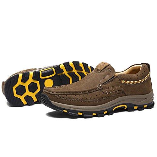 Herren Freizeitschuhe Dress Bergsteigen Herbst Outdoor Weiche Füße Sport Schuhe Rutschen Brown D