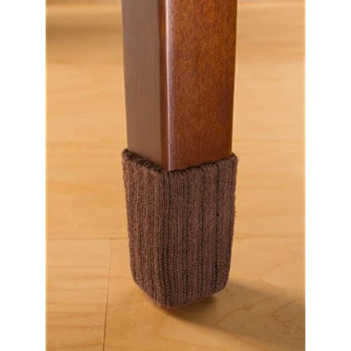 NancyProtectz Small/Chocolate Brown, Patented With Rubberized Grips/Chair  Leg Floor Protectors