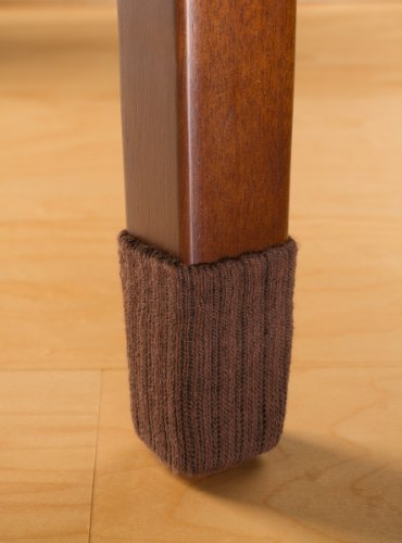 NancyProtectz Small/Chocolate Brown, Patented with Rubberized Grips/Chair Leg Floor Protectors (Booties Furniture)