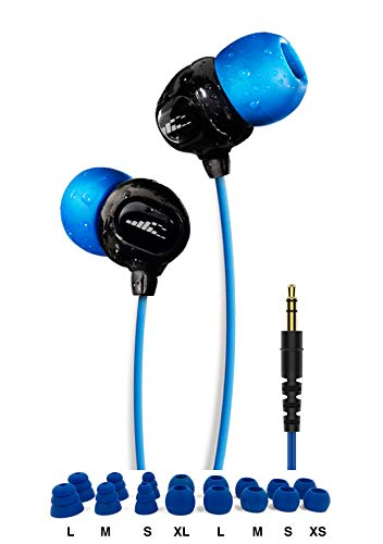 H2O Audio 100% Waterproof Headphones. Noise Canceling, Sweat Proof Surge+ Swim Headphones Perfect for Swimming & All…