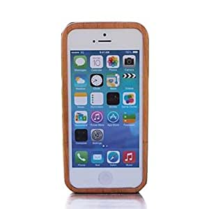 JJE Bamboo Stripe Wood Dark Bamboo with Light Protective Case Cover for iPhone 4/4S