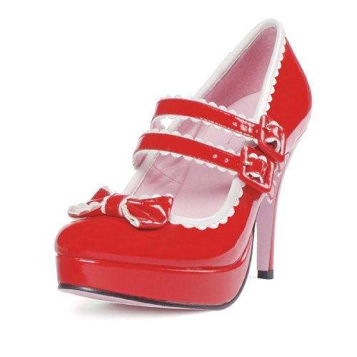 Leg Avenue Women's Shoes 4 Inch Mary Jane Double-Strap Shoe -