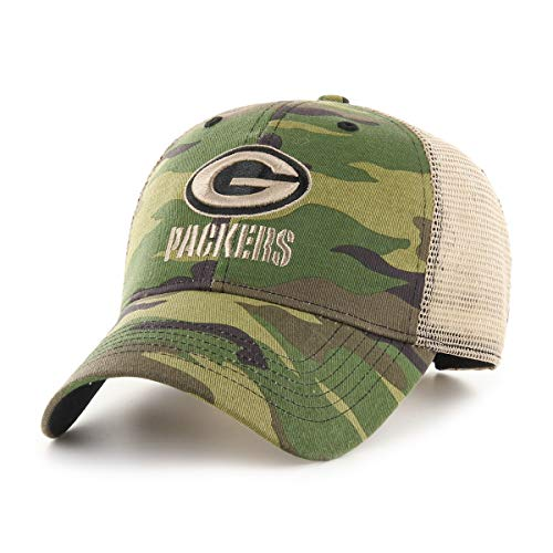 (NFL Green Bay Packers Male Nameplate OTS All-Star Adjustable Hat, Camouflage Green , One Size)