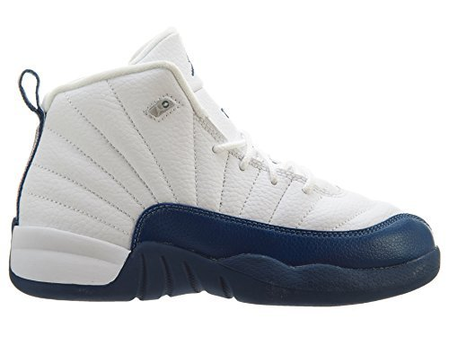 JORDAN 12 Retro Bp Little Kids Style, White/Frnch Bl/Metallic Silver/Vrst, 12.5