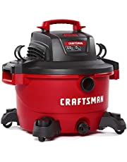 CRAFTSMAN 45 Litre (12 Gallon) 6 Peak HP Wet/Dry Vac, Powerful Shop Vacuum with Attachments (CMXEVBE17594) - Ideal for Car Cleaning, Jobsite, Workshop, Wood Working and Other Projects