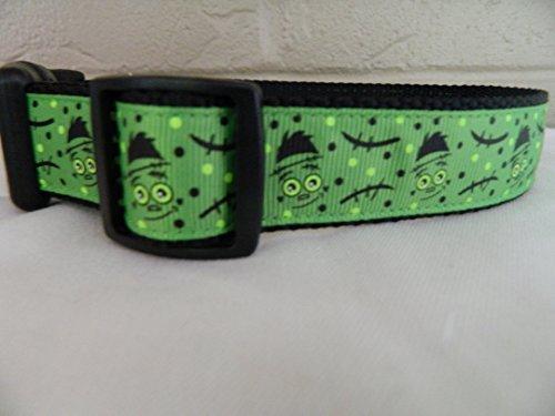 Schmoopsie Couture Halloween Frankenstein Dog Collar (Medium -
