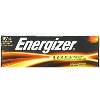 Energizer(R) 9-Volt Alkaline Industrial Batteries, Box Of 12