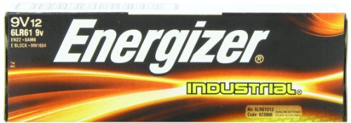 Energizer(R) 9-Volt Alkaline Industrial Batteries, Box Of 12 (Industrial Alkaline Batteries)