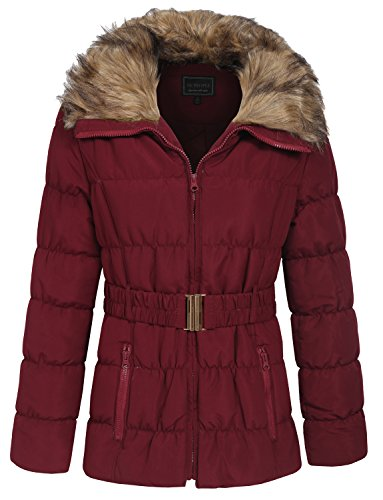 Mulberry Color - NE PEOPLE Womens Winter Quilted Light Weight Jacket Coat