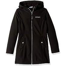 DKNY Girls' Big Long Hooded Softshell Jacket