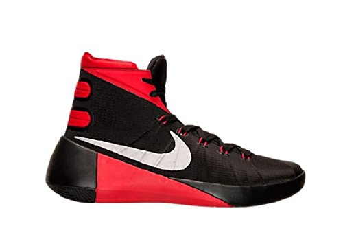 Nike Mens Hyperdunk 2015 Basketball Shoe Black/University Red/ Metallic Silver 11.5 (High Top Nike Shoes compare prices)