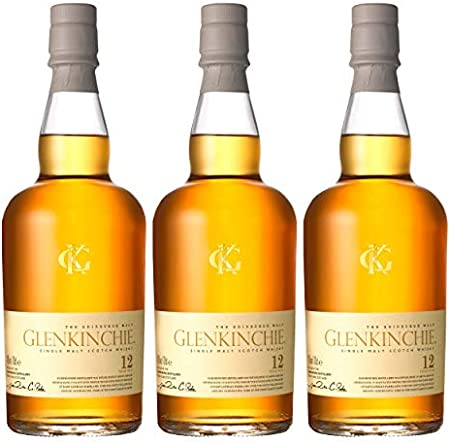 Glenkinchie 605392 - Botella de Whisky (12 años/años, 3 Unidades, 43% Botella de Alcohol, 700 ml)