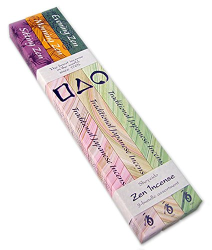 (Shoyeido Zen 2 Hour Incense 3 Bundle Assortment - Sitting, Morning, Evening in 30-stick individual boxes - 90 Sticks Total)