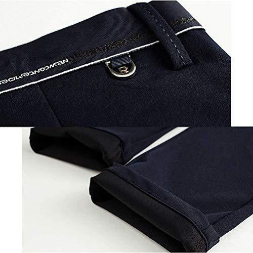 Bobolily Regular Manguera Business De Homme Noir Chino Plana Slim Chinos Costume Designer Décontractés Pantalons q8Pww