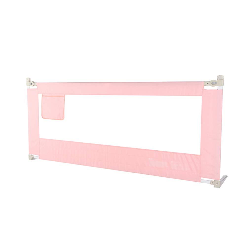 JY 縦の上昇の赤ん坊のベッドの柵、幼児の監視柵の特別に長いベッドの監視子供、安全低下の抵抗の保護塀68cmの高さ (色 : Pink, サイズ さいず : 200cm) 200cm Pink B07MPCBD9F