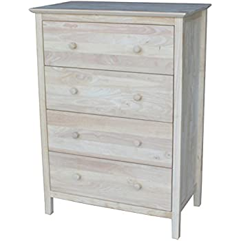 International Concepts Chest With  Drawers Unfinished