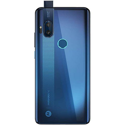 "Motorola One Hyper 128GB + 4GB RAM, XT202-1, 6.5"" FHD+, 64 MP Photos, LTE Factory Unlocked Smartphone - International Version (Blue Iceberg) (Renewed)"