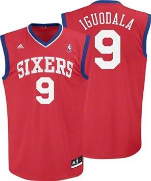 Adidas NBA Philadelphia 76ers Rojo réplica de la Camiseta Andre Iguodala # 9, Hombre, Philadelphia 76ers: Amazon.es: Deportes y aire libre