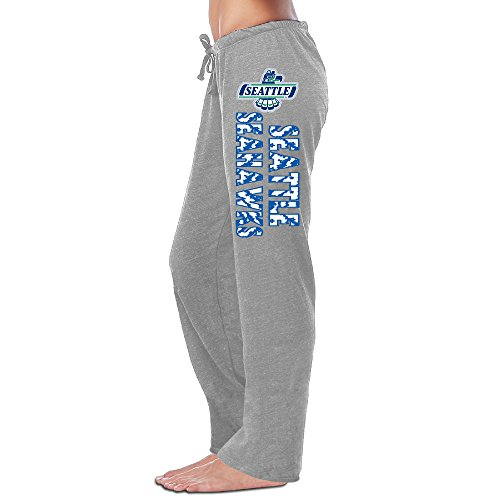 Women's Seahawks Fleece Sweatpants Ash Size M (Helmet Novelty Hawk)