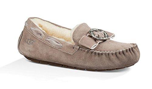 UGG Womens Dakota Brooch Slippers Stormy Grey Size 7 (Ugg Slippers Women Dakota)
