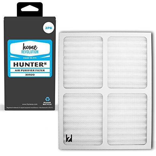 Home Revolution 2 Replacement HEPA Filters, Fits Hunter Part 30920 and 30050, 30055, 30065, 37065, 30075, 30080 & 30177 Air Purifier Models