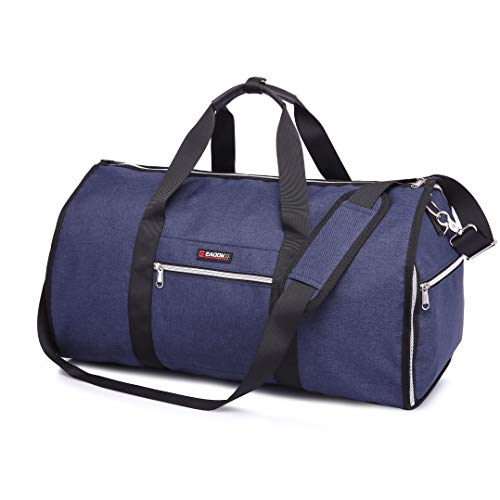 Travel Garment Bag With Pocket Folding Garment Bag & Carryon Garment Bag Two-In-One (NAVY)