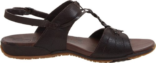 Merrell MICCA J46380 - Sandalias de vestir de cuero para mujer Mahogany