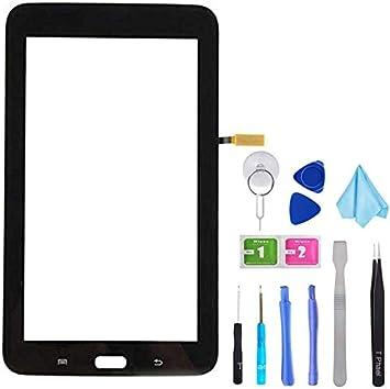 Tefir Negro Pantalla táctil de Cristal para Samsung Galaxy Tab 3 ...