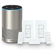 Echo (2nd Generation) - Silver + Lutron Deluxe Smart Lighting Starter Kit