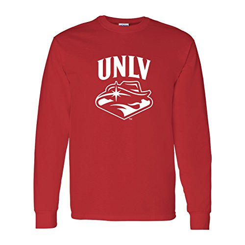 Unlv T-shirts - AL03 - UNLV Rebels Arch Logo Long Sleeve - Medium - Red