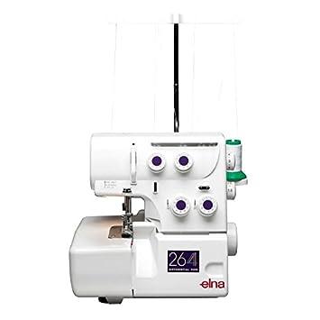 Elna - Máquina de coser overlock Modelo 264 con Roll dobladillo Incluye Libro: costurero Dir un vestido: Amazon.es: Hogar