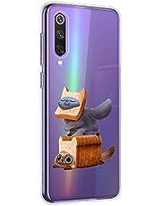 Oihxse Funda Xiaomi Mi CC9/A3 Lite/Xiaomi Mi 9 Lite, Ultra Delgado Transparente TPU Silicona Case Suave Claro Elegante Creativa Patrón Bumper Carcasa Anti-Arañazos Anti-Choque Protección Caso (A2)