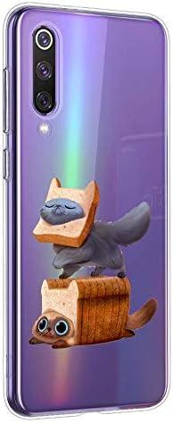 Oihxse beschermhoes voor Xiaomi Mi Mix 2 ultradun transparant zacht TPU siliconengel schattig motief tekening schokbestendig bumper cover A2