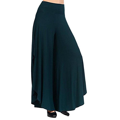 Pantaloni Pantalonil Palazzo Flare Palazzo Pantaloni Bootcut Vintage Harem Estate juqilu Verde Pantaloni Pantaloni Pantaloni Gamba Eleganti Larghi Donne Larga Casuale A Pantaloni wUq64p