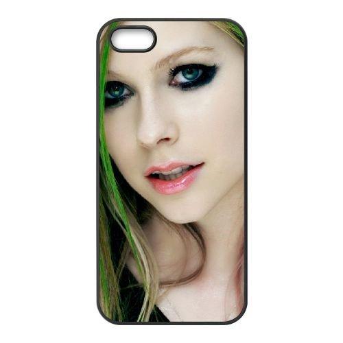 Avril Lavigne coque iPhone 5 5S cellulaire cas coque de téléphone cas téléphone cellulaire noir couvercle EOKXLLNCD21888