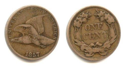 Flying Eagle Cent -- Fine - Eagle Flying 1856 Cent