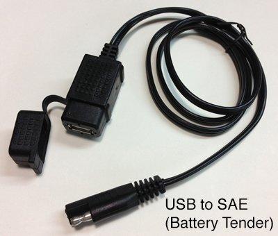 amazon com usb weatherproof charger socket 2 1 amp to sae usb weatherproof charger socket 2 1 amp to sae battery tender