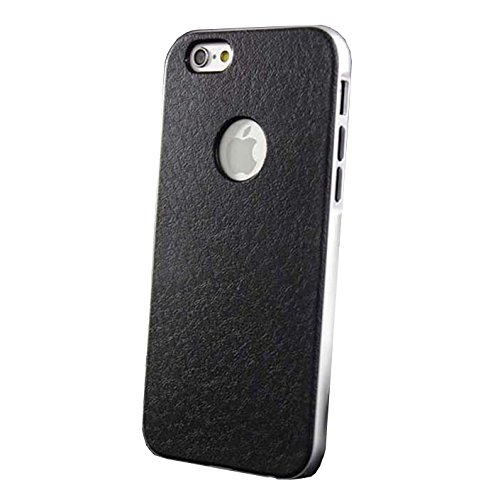 Monkey Cases® iPhone 6 / 6s - SILBER Leder Chrom Case - Handyhülle - Aluminium Schutz Cover
