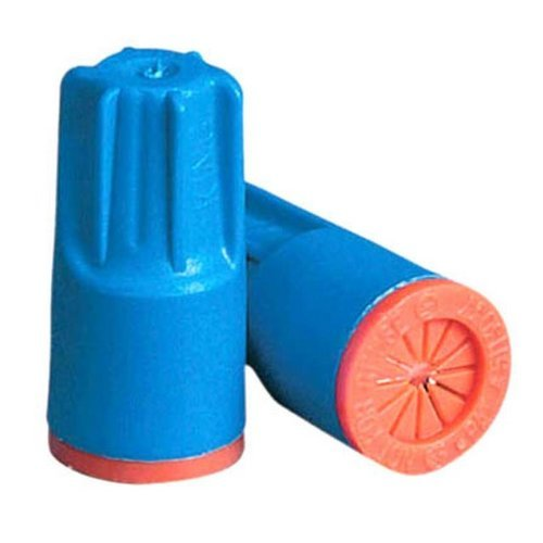 Safety Connector - King Safety Products 62125 Waterproof Wire Connectors, Aqua / Orange, 25-Pack