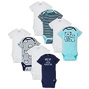 Gerber Baby Boys 8 Pack Variety Onesies Bodysuits, Bear, 0-3 Months