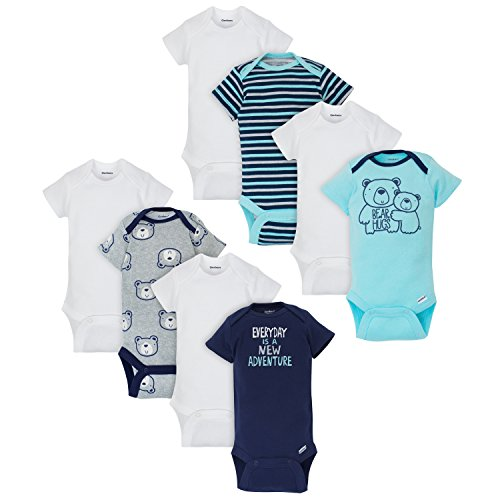 Gerber Baby Boys 8 Pack Variety Onesies Bodysuits, Bear, 3-6 Months